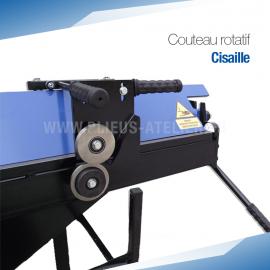 Cisaille (couteau rotatif) pour plieuse d'atelier - PRO+