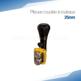Plieuse bordeuse coudée à rouleaux manuelle 25 mm