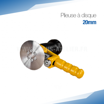 Plieuse simple disque manuelle 20 mm