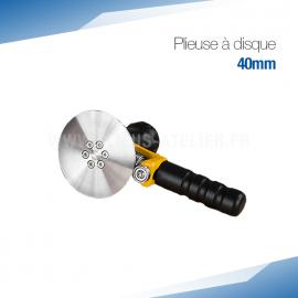 Plieuse simple disque manuelle 40 mm