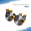 Plieuse double disque manuelle 40 mm