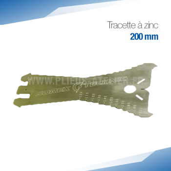 Pack 3 tracettes à zinc