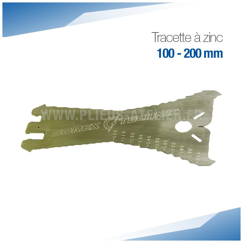 Tracette à zinc 100 mm - PRO+