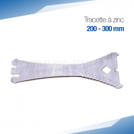 Tracette à zinc 300 mm - PRO+