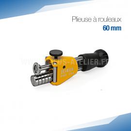 Plieuse bordeuse à rouleaux manuelle 60 mm