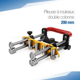 Plieuse bordeuse à rouleaux double colonne manuelle 200 mm