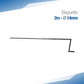 Baguette à métal et Zinc - Ourlet de 14 mm