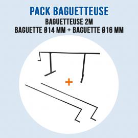 Pack Baguetteuse à métal et Zinc - Ourlet de 14 mm et 16 mm