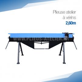 Plieuse manuelle 2,60 m d'atelier ou de chantier à vérin à gaz PROFESSIONNELLE