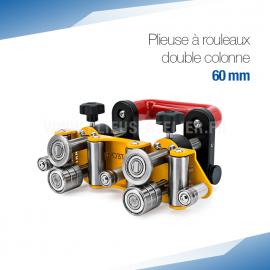 Plieuse bordeuse à rouleaux double colonne manuelle 60 mm