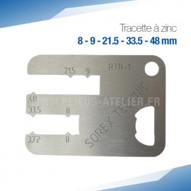 Tracette à zinc RTR-1 - PRO+