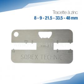 Tracette à zinc RTR-2 - PRO+