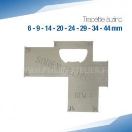 Tracette à zinc RTW-1 - PRO+