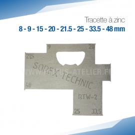 Tracette à zinc RTW-2 - PRO+