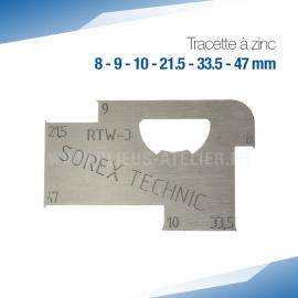 Tracette à zinc RTW-3 - PRO+