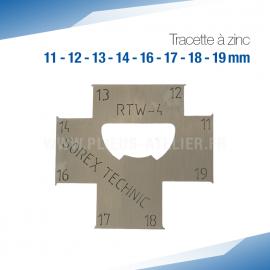 Tracette à zinc RTW-4 - PRO+