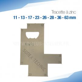 Tracette à zinc RTW-5 - PRO+