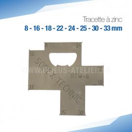 Tracette à zinc RTW-6 - PRO+