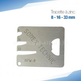 Tracette à zinc RTW-8 - PRO+