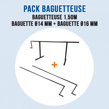 Pack Baguetteuse 150 cm à métal et Zinc - Ourlet de 14 mm et 16 mm