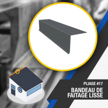 🔎 PLIAGE #17 : BANDE DE FAÎTAGE LISSE 🔍 La bande de faîtage lisse est une pièce qui assure l'étanchéité et la finition des toitures mono-pente. Le bandeau de faîtage lisse s'adapte à toutes les inclinaisons du toit. . Nombre d'angles : 2 . OUTILS DE PLIAGE NÉCESSAIRES 👉 Lien dans la bio . #faitage #plieuse #atelier #chantier #couverture #zinc #zinguerie #diy #bricolage #outil #plieuseatelierfr