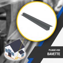 🔎 PLIAGE #30 : BAVETTE 🔍 La bavette est une pièce assurant l'étanchéité en partie basse d'un bardage. Elle protège le bâti de la pluie, de l'humidité et assure le dégagement de l'eau le long du bardage.  Nombre d'angles : 4  OUTILS DE PLIAGE NÉCESSAIRES 👉 Lien dans la bio  #angle #bavette #plieuse #atelier #chantier #couverture #zinc #zinguerie #diy #bricolage #outil #plieuseatelierfr