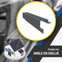 🔎 PLIAGE #13 : ANGLE EN SAILLIE 🔍 Le pliage d'angle en saillie est une pièce qui assure la finition pour les bardages enacier posés horizontalement. Il permet d'obtenir une finition esthétique du bâtiment. . Nombre d'angles : 5 . OUTILS DE PLIAGE NÉCESSAIRES 👉 Lien dans la bio . #plieuse #atelier #chantier #couverture #zinc #zinguerie #diy #bricolage #outil#angle #saillie #plieuseatelierfr