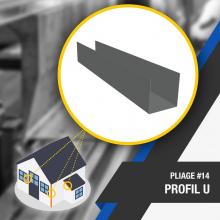🔎 PLIAGE #14 : PROFIL U 🔍 Le profil U est une pièce multifonction qui assure notamment la finition pour les bardages. Il permet principalement d'obtenir une finition esthétique du bâtiment mais peut également avoir une fonction plus pratique pour fixer ou glisser des matériaux. .  Nombre d'angles : 2 .  OUTILS DE PLIAGE NÉCESSAIRES 👉 Lien dans la bio .  #plieuse #atelier #chantier #couverture #zinc #zinguerie #diy #bricolage #outil #profilu #plieuseatelierfr