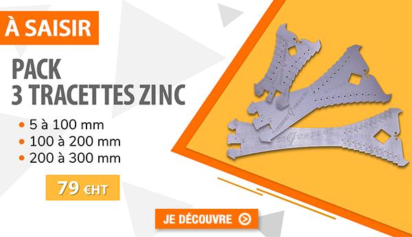 Pack 3 tracettes zinc